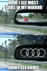 audi automobilové vtipy
