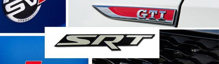 Skratky pri športových modeloch áut – viete, čo znamenajú?