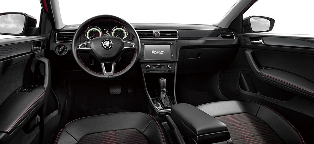 Škoda Rapid Čína interiér