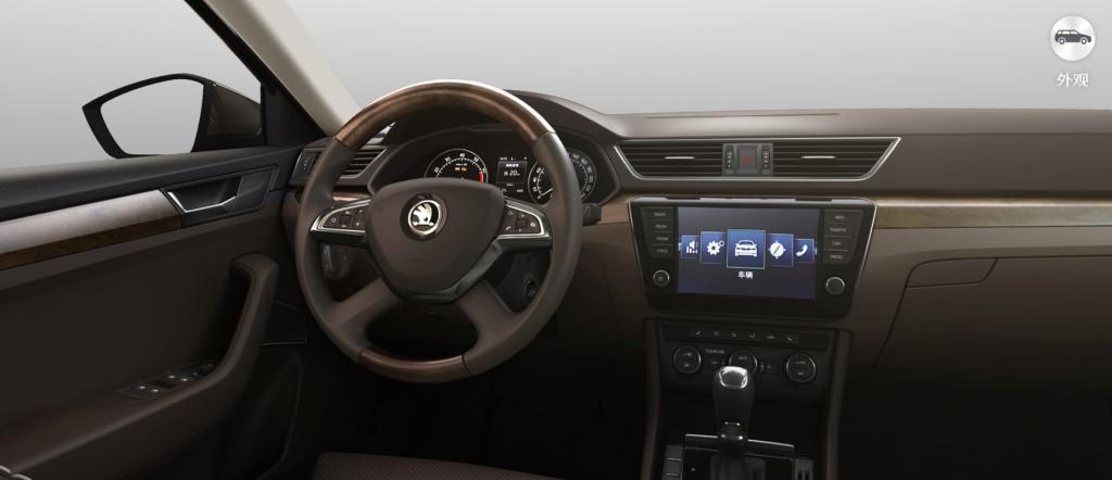 Čínske Škodovky Škoda Superb interiér
