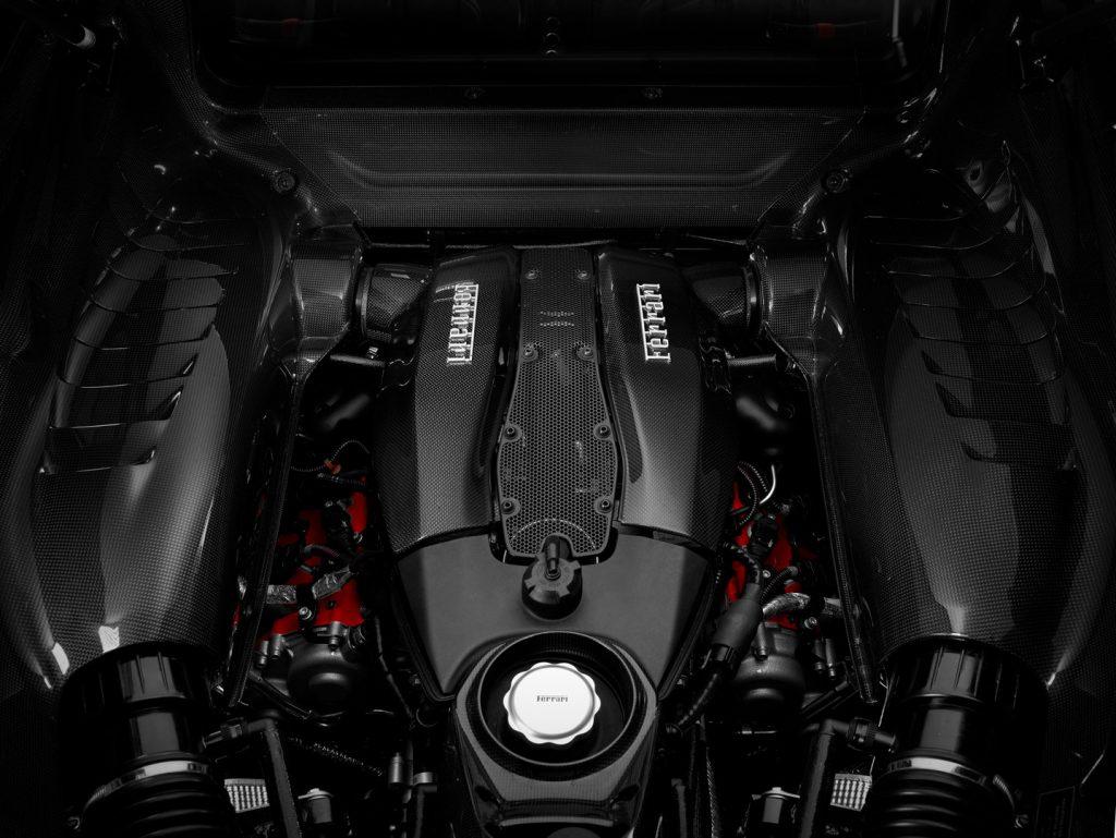 Ferrari F8 Tributo motor