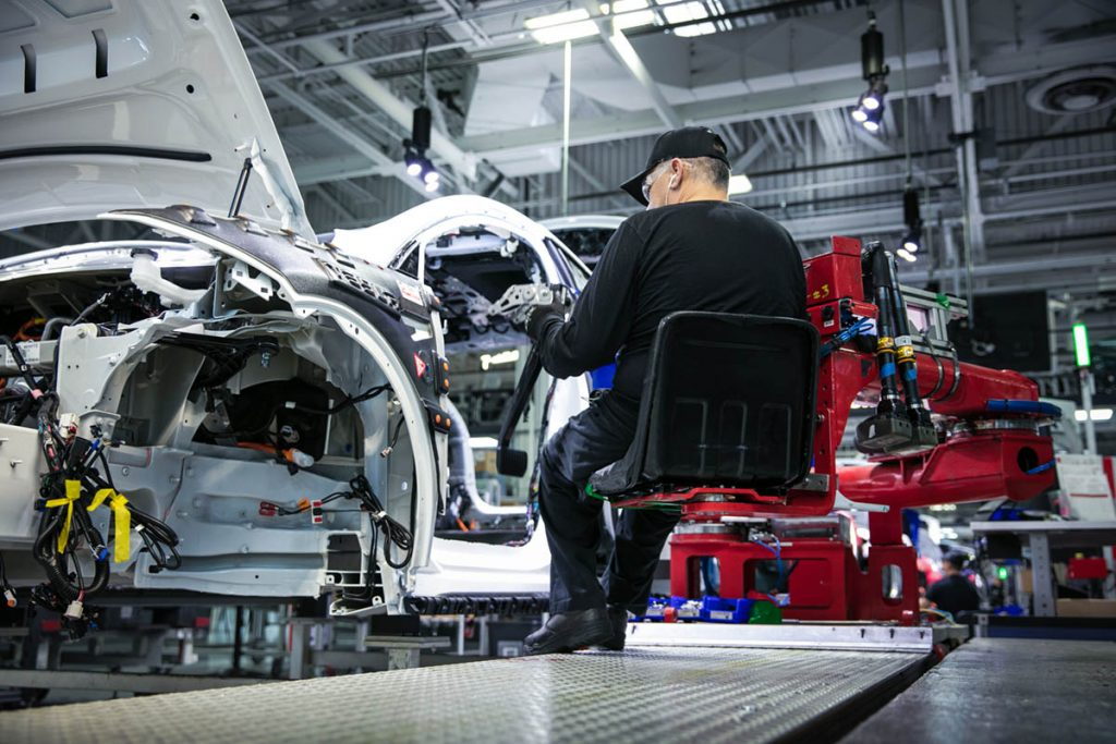 Milovník áut továreň na autá