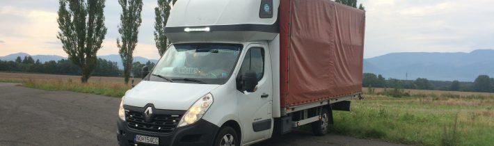 Ako sa jazdí na valníku s plachtou? Renault Master 165 dci