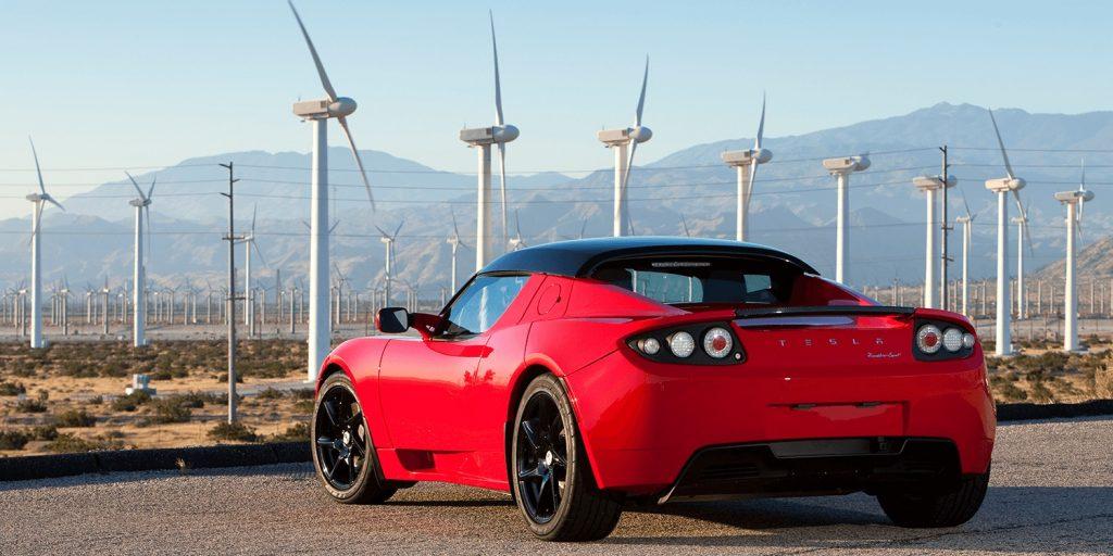 Tesla Roadster 2008 zadok exterier