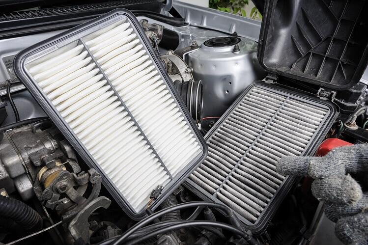 jazdenie na spotrebu vzduchový filter