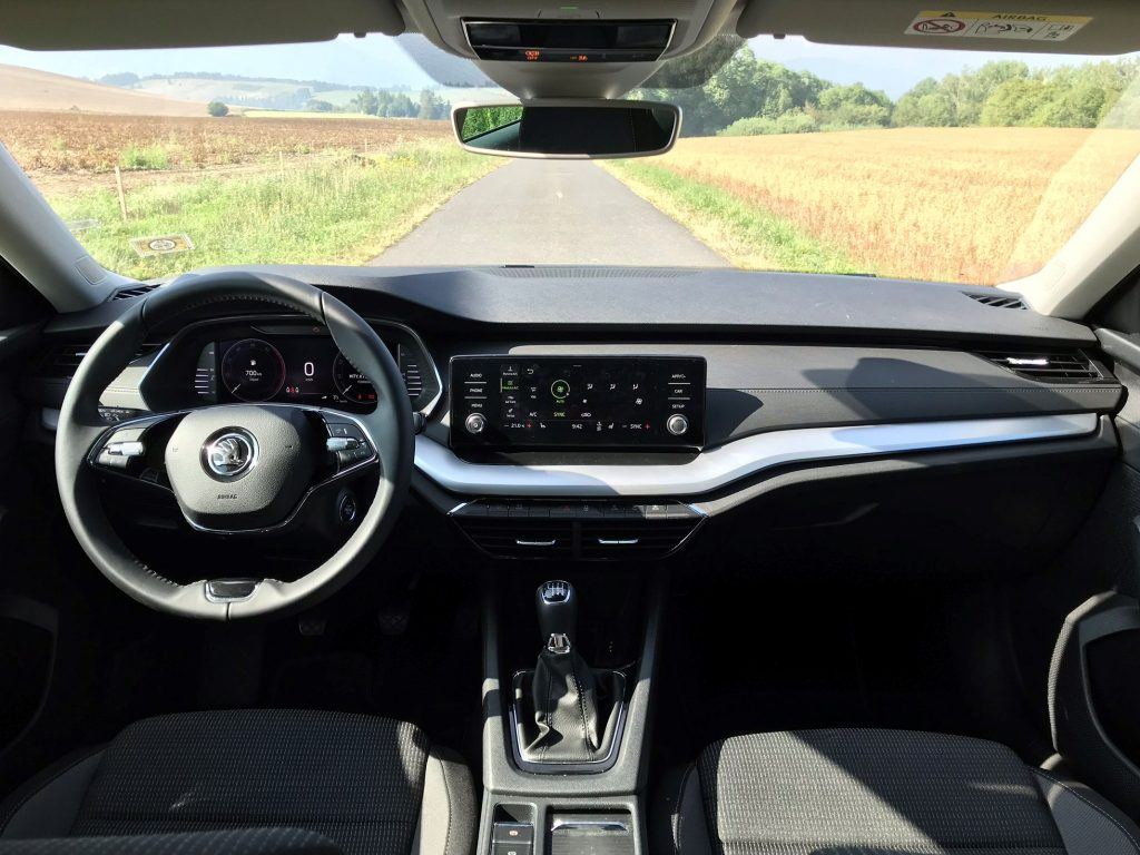 2020 Škoda Octavia 4 2.0 TDI Ambition test recenzia sk interiér
