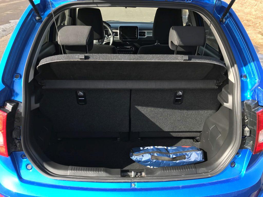 2021 Suzuki Ignis Hybrid GLX test recenzia skúsenosti kufor