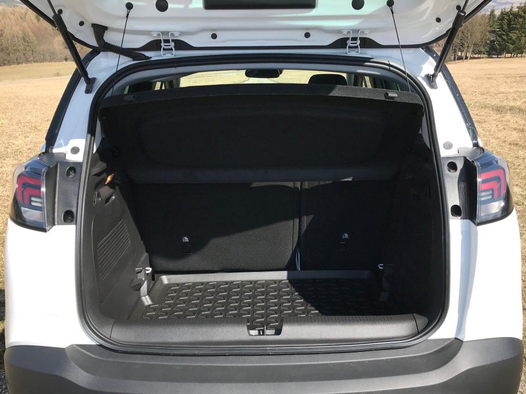 2021 Opel Crossland 1.5 CDTI Elegance test recenzia skúsenosti kufor
