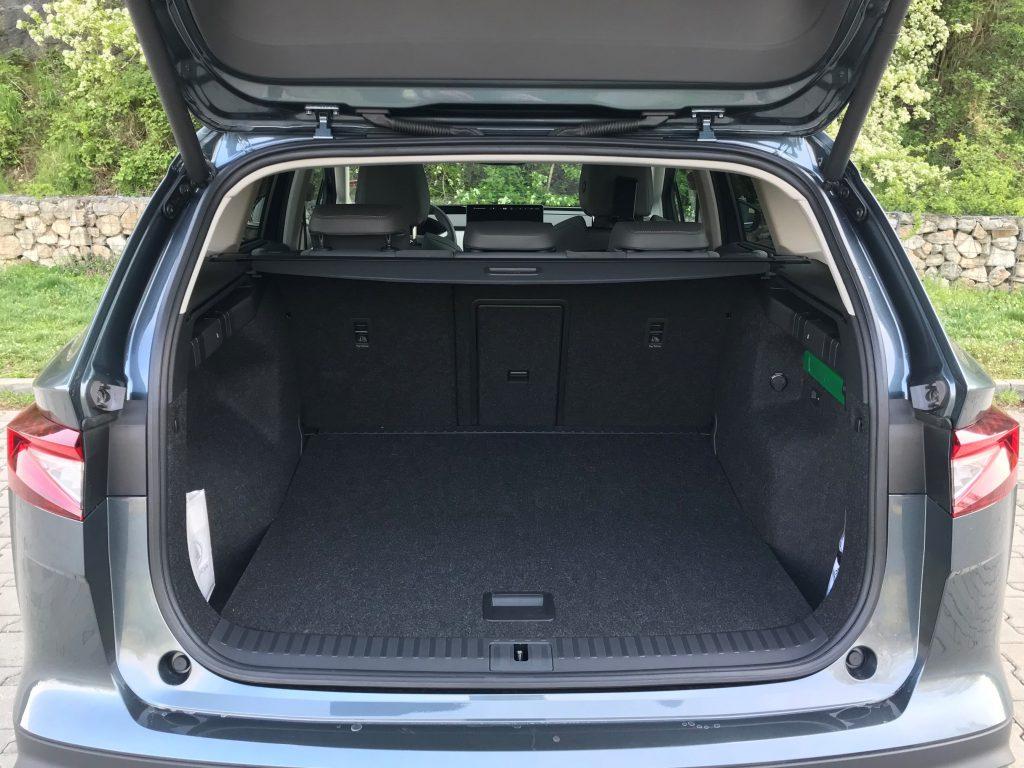 2021 Škoda Enyaq iV 80 test recenzia skúsenosti kufor