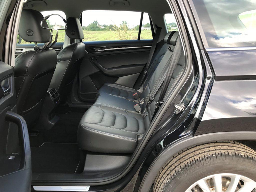 2019 Škoda Kodiaq 2.0 TDI 110 kW DSG test jazdenky recenzia skúsenosti zadné sedadlá